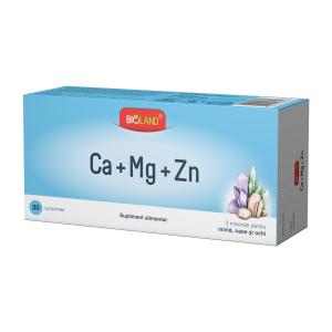 Bioland-Ca-Mg-Zn x 30 comprimate